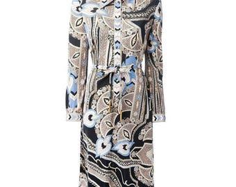 Leonard 1970s Silk Dress