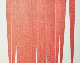 Pre Cut Paper Bead Strips Craft Supplies Paper Bead Supplies Red Denim