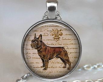 French Bulldog necklace, French Bulldog pendant, dog lover jewelry, dog lover necklace, bulldog key chain key ring key fob