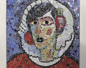 According to von Jawlensky Alexej mosaic portrait