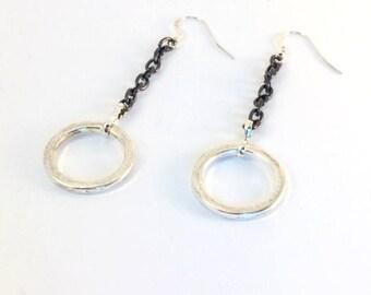 Earrings circle pendant