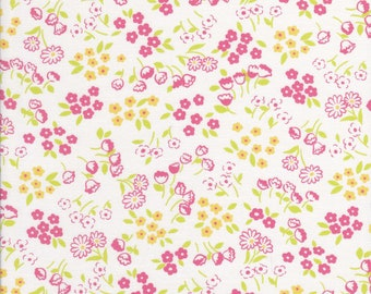 Old New 30s - Lecien Fabric - Reproduction Fabric - Pink Floral Fabric