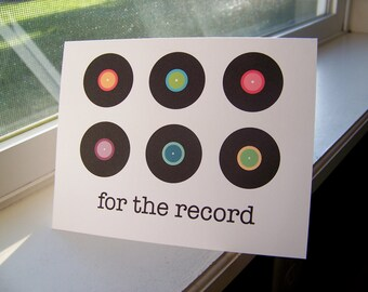 For the Record Notecards: Set of 10, Note Cards, Stationery, Card Set