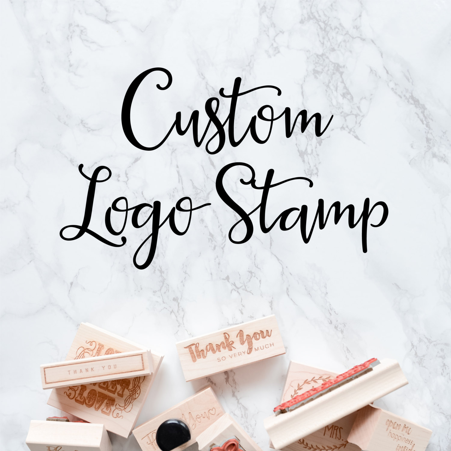 Custom Logo Stamp for Your Small Business Etsy Shop Custom