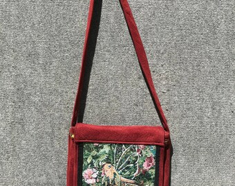 Fairy satchel, tapestry satchel, fairy messenger bag, fairy tapestry satchel, fairy bag, fairy purse,