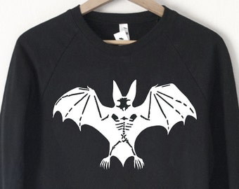 Bat Skeleton Sweatshirt - by So Effing Cute - Halloween