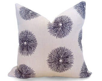 Sea Urchin Pillow Cover - Kelly Wearstler Lee Jofa - Ebony Brown - Linen Pillow - Nautical Pillow - Decorative Pillow - Coastal Pillow