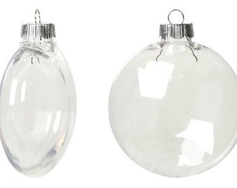 Bulk Case Clear Plastic Shatterproof Disc Ornament  100mm x 42 pieces 2610-66B