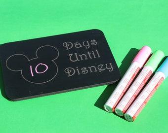 Disney Inspired 5x7 Magnetic Chalkboard Countdown