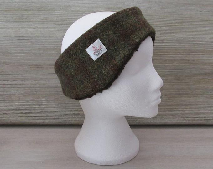 Harris Tweed Crofters Check Luxury Ear Warmer Headband