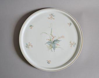 Cake plate / 1950s / porcelain / flowers / vintage / tableware / Germany / Bavaria / Zeh Scherzer / Bavaria / modern kitchen / mid century