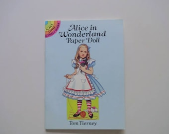 Vintage Alice in Wonderland Paper-doll Book Tom Tierney 1992