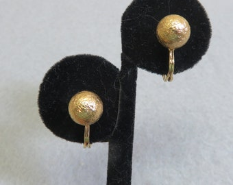 Monet Mint Condition Tiny Gold Balls Clip Earrings