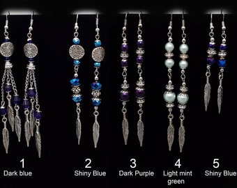 Feather Beads Earrings, different styles!