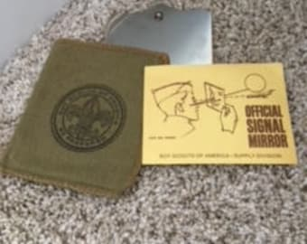 Boy Scouts of America - Vintage Official Signal Mirror with Instructions