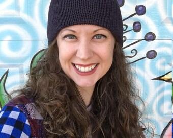 ReSweater Hat - Purple Merino Wool