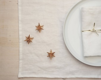 Linen placemats Housewarming gift Linen placemat set 14x20 inches placemat Linen kitchen accessories Set of 2 Available in 12 colors