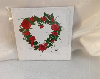 Heart of Roses Card