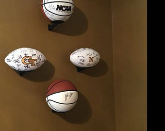 Wall mount Display Bracket for Basketball, Soccer, volleyball, Water Polo, etc...... Football Display Bracket now available!!