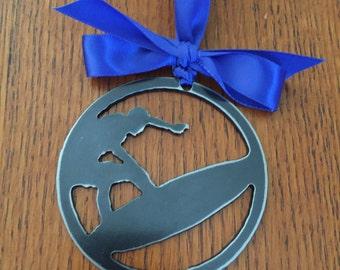 Surfer Ornament (Metal)