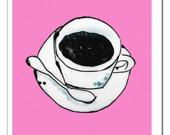 Coffee Cup n' Saucer Art-Print