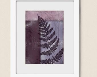 5 x 7 Print, Mauve Decor for Home, Dark Purple Bedroom Wall Art, Plant Wall Art Lavendar Print, Wall Art Print (243)