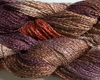 Finch, Hand-dyed Rayon Boucle Yarn, 225 yds - Pheasant