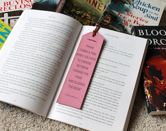 Personalized Bookmark, Faux Leather Bookmark, Leather Bookmark, Custom Bookmark, Gifts for teachers, Back to school --FXBM-P-JoshJameson