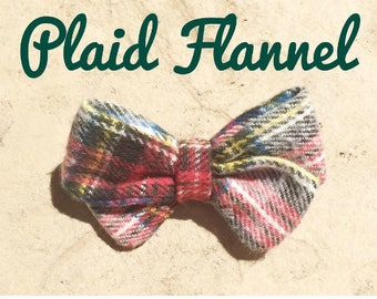 Plaid Flannel Hair Bow