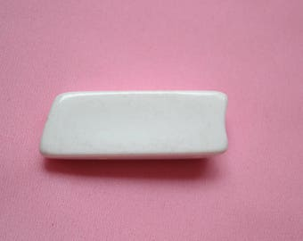 logs 40 mm white button