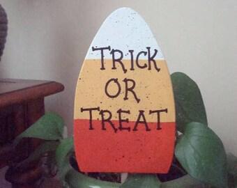 Yard Art Candy Corn on Dowel Stake Halloween