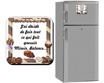 This magnet magnet personalized, chocolate, greed, Cook, aperitif Ricard