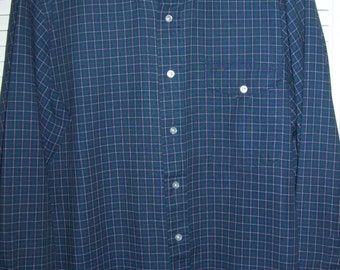 Vintage L L Bean Button-Down XL Blue and the Gold Cotton Shirt PERFECT !