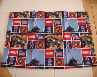 Marines travel pillowcase