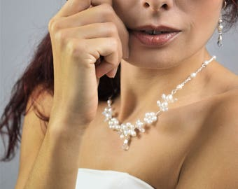 IONA wedding necklace / wedding necklace freshwater pearls