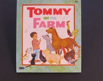 TOMMY on the FARM     like new book vintage Whitman Tell a Tale at Solveig Russell Elfreda 1968 makes music with animals