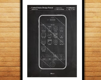 Iphone patent poster etsy iphone ios software patent iphone ios software poster iphone blueprint iphone print malvernweather Image collections