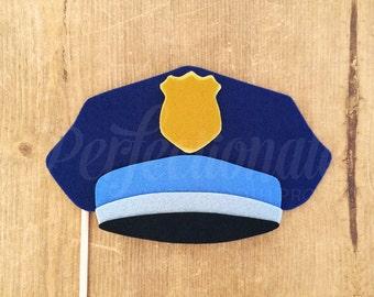 Cop Hat   Police Photo-Booth Prop   Gatsby Props   Roaring 20s Prop   Policeman Hat Prop