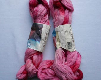 DK - Double knitting - Araucania Atacama pink hand dyed alpaca yarn - 3 new skeins - made in Chile