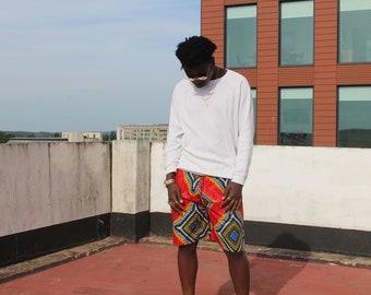 African Shorts Festival Shorts Ankara Shorts Kente Shorts African Print Shorts African Clothing Bohemian Clothing Glastonbury Clothing Beach