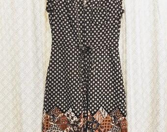 Vintage 1970s Sue Brett Culottes / Women's Small / Jumpsuit