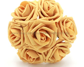 Gold Wedding Flowers Aritificial Roses Gold Dia 8cm For Wedding Table Centerpiece Decoration Bridal Bouquets Wholesale Flowers