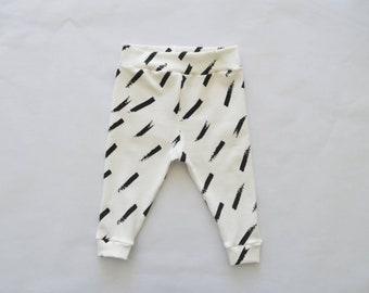 Baby legging diagonal stripes black white-baby clothes