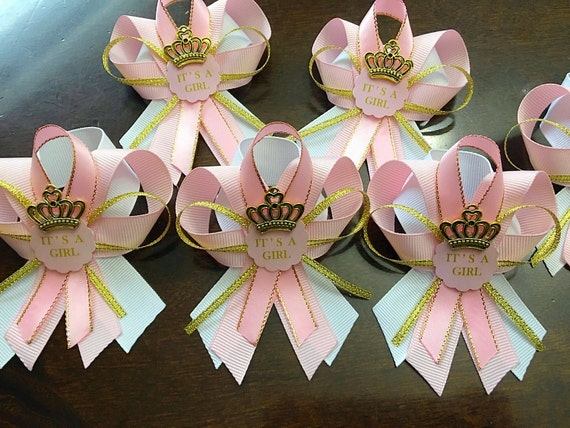 Wonderful 12 Pink And Gold Guest Pins For Baby Shower Pink And Gold