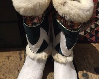 Tecnica vintage fur boots