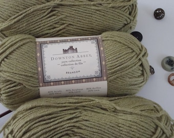 Downton Abbey Branson Lichen Green