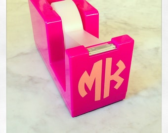 Personalized hot pink tape dispenser