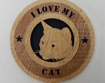 I Love My Cat wall plaque