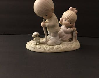 Precious Moments  sam butcher 1989 Original # 522090 There Shall Be Showers Of Blessings