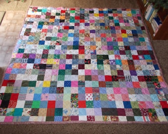 50% Deposit - King Quilt - Scrappy Patchwork Quilt - King Size Quilt - DEPOSIT ONLY